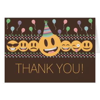 Niedliches Emoji Geburtstags-Party danken Ihnen zu Karte