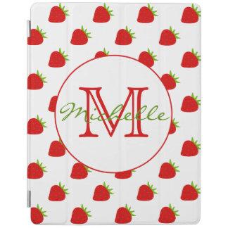 Niedliches Erdbeermuster personalisierte iPad iPad Hülle