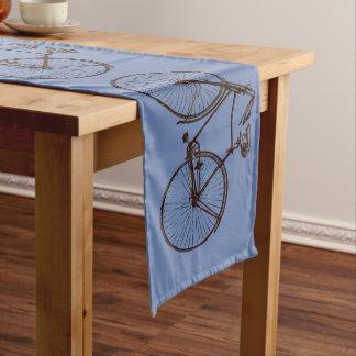 Niedliches Fahrradfahrradtabellen-Läuferblau Großer Tischläufer