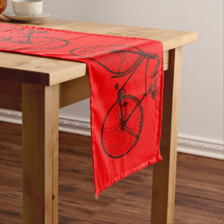Niedliches Fahrradfahrradtabellen-Läuferrot Großer Tischläufer