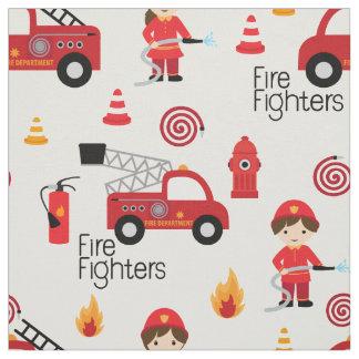 Niedliches Feuerwehrmanngewebe Stoff
