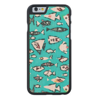 Niedliches Fische iPhone 6/6s nehmen Carved® iPhone 6 Hülle Ahorn