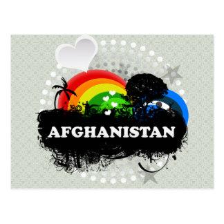Niedliches fruchtiges Afghanistan Postkarte