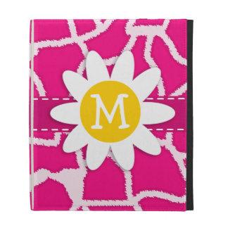 Niedliches Gänseblümchen auf helle rosa Giraffen-T