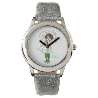 Niedliches Gänseblümchen-Blumen-Kinderlustiges Armbanduhr