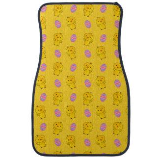 Niedliches gelbes Babyküken-Ostern-Muster Automatte