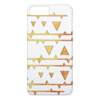 Niedliches gelbes und weißes Dreieck-Azteke-Muster iPhone 8 Plus/7 Plus Hülle