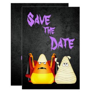 Niedliches gespenstisches Wedding Halloween Save 8,9 X 12,7 Cm Einladungskarte