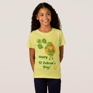 Niedliches glücklichen St Patrick Tagesmädchen T-Shirt