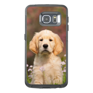 Niedliches goldener Retriever-Hundewelpen-Porträt