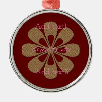 Niedliches Goldschneeflocke-Blumen-Baby scherzt Silbernes Ornament