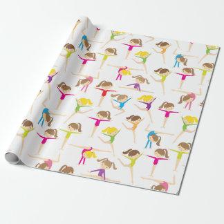 Niedliches Gymnasts-Verpackungs-Papier Geschenkpapier