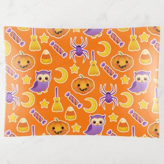 Niedliches Halloween-Kürbis-Eulen-Spinnen-Muster Dekoschale