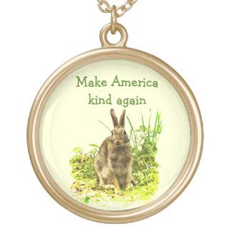Niedliches Häschen-Kaninchen machen Vergoldete Kette