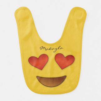 Niedliches Herz für Augen emoji Lätzchen