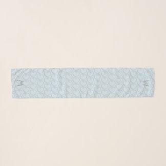Niedliches Herz-Muster-mit Monogramm hellblauer Schal