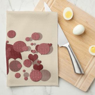 Niedliches Herz-Regen-Küchen-Tuch Küchentuch