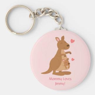 Niedliches Känguru-Baby Joey für Kinder Schlüsselanhänger