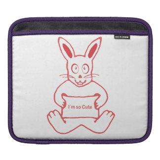 Niedliches Kaninchen mit niedlicher Text-Fahne I m Sleeves Für iPads