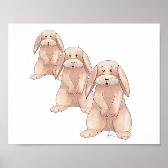 Niedliches Kaninchen-Plakat Poster