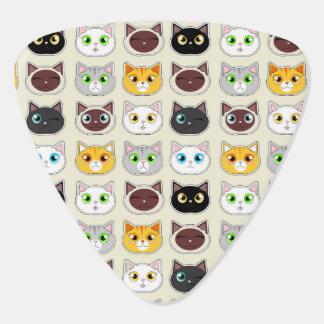 Niedliches Katzen-Ausdruck-Muster Plektron