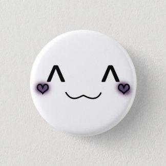 niedliches kleines Buttonblau Runder Button 2,5 Cm
