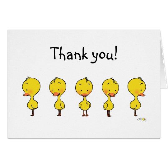 Niedliches kleines Entlein danken Ihnen Mitteilungskarte