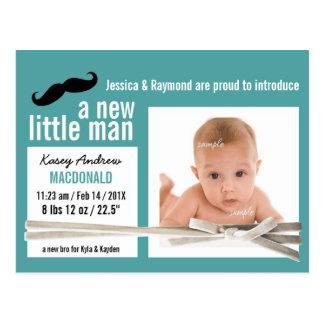 Niedliches kleines Mann-Foto-neuer Baby-Junge Postkarte
