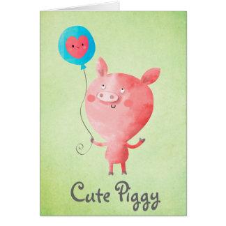 Niedliches kleines Schwein Karte