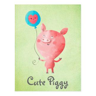 Niedliches kleines Schwein Postkarte
