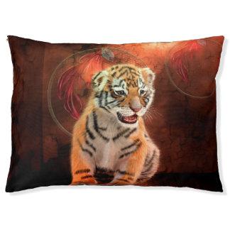 Niedliches kleines Tigerbaby Haustierbett