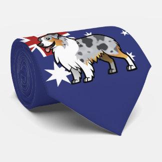 Niedliches kundengerechtes Haustier auf Krawatten