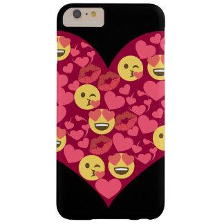 Niedliches Liebe-Kuss-LippenEmoji Herz Barely There iPhone 6 Plus Hülle