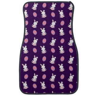 Niedliches lila Babyhäschen-Ostern-Muster Autofußmatte