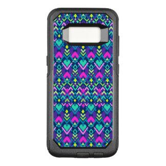 Niedliches lila rosa Stammes- OtterBox Commuter Samsung Galaxy S8 Hülle