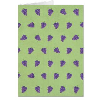 Niedliches lila Trauben-Bild-Muster Karte