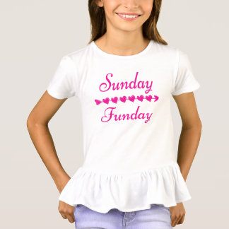 Niedliches lustiges rosa Herz Sonntags Funday T-Shirt