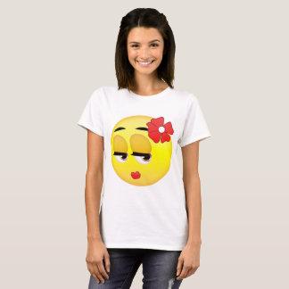 Niedliches Mädchen Emoji T-Shirt