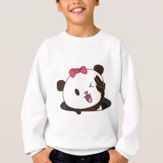 Niedliches Mädchenpanda O.K.! Sweatshirt