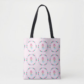 Niedliches Meerjungfrau-Druck-Taschen-Rosa Tasche