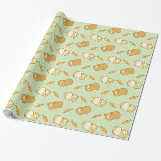 Niedliches Meerschweinchen und Karotten Einpackpapier