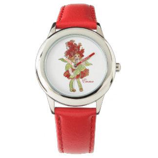 Niedliches Milkweed-Blumen-Kinderkleines mit Uhr