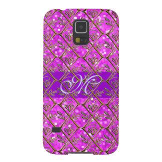 Niedliches Monogramm-Girly Samsung S5 Cover
