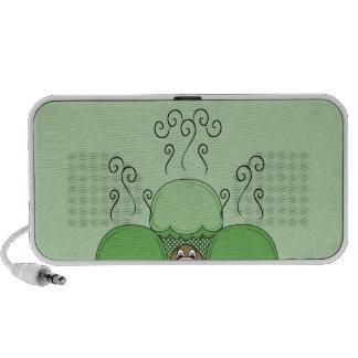 Niedliches Monster mit grünen mattierten kleinen K Notebook Lautsprecher