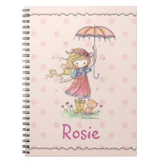 Niedliches Notizbuch für kleines Mädchen addieren
