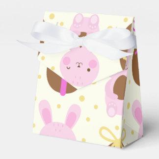 Niedliches Osterhasen- und Schokoladeneimuster Geschenkschachtel