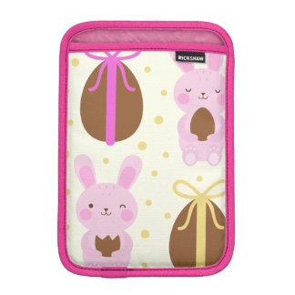 Niedliches Osterhasen- und Schokoladeneimuster iPad Mini Sleeve