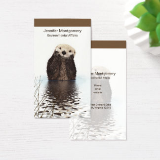 Niedliches Otter-Tier-Bild Visitenkarte