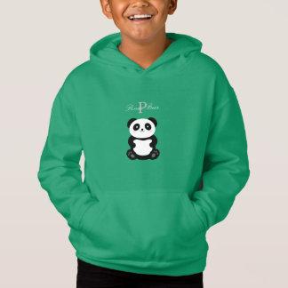Niedliches Panda-Bärn-Monogramm Hoodie