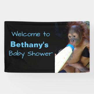 Niedliches personalisiertes Baby-Duschenwillkommen Banner